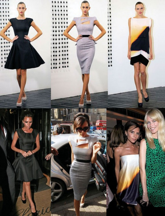 marca da Victoria Beckham, apresentada na semana de moda de Nova York