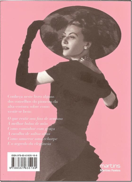 O pequeno Dicionário de Moda CD 1954 (contra capa)