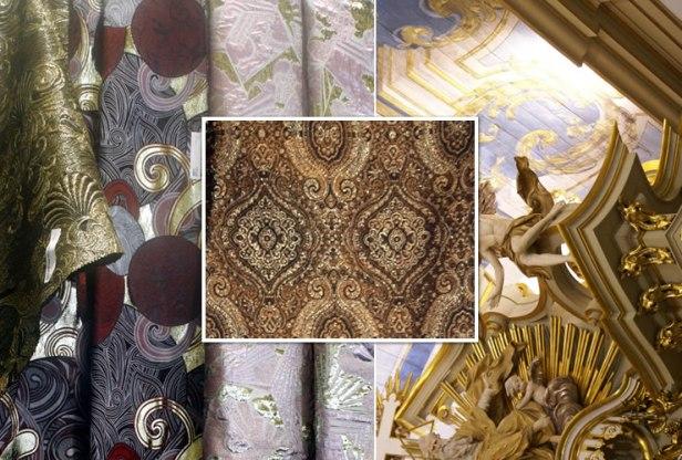 Fórum Seduction - Première Vision Pluriel | Detalhe coroamento altar mor Igreja de São Francisco, S.Paulo | Tendência - colori, materiali ed accessori - Milano Unica